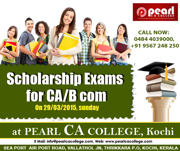 Scholarship exam for ca / B.com / cpt students